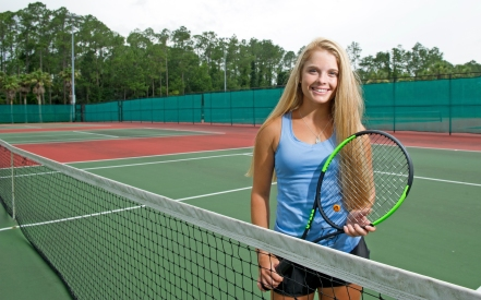 Ponte Vedra junior Olivia Talbert, photographed at the school on Monday, June 19, 2017, is the 2017 All-County Girls Tennis Player of the Year. (Christina Kelso/ The St. Augustine Record)