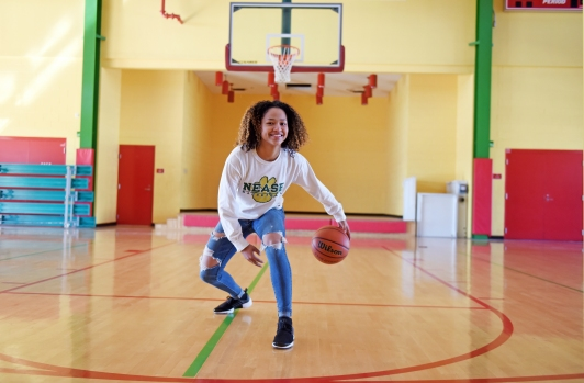 Nease sophomore Kiya Turner, pictured on Thursday, March 16, 2017, is the Girls Basketball All-County Player of the Year. (Christina Kelso/ The St. Augustine Record)
