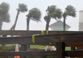 Rain picks up on October 6, 2017, a day before Hurricane Matthew's anticipated impact on St. Augustine. (Christina Kelso/ The St. Augustine Record)