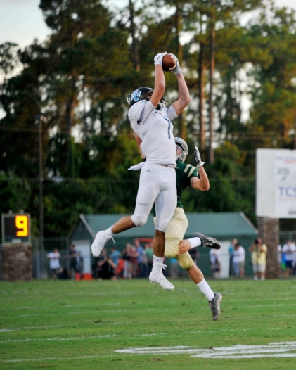 The Ponte Vedra Sharks compete against the Nease Panthers in a season-opening rivalry game at Nease on Friday, August 27, 2017. (Christina Kelso/ The St. Augustine Record)